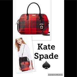 🚗 Kate Spade Rachelle Woodland Plaid Satchel NWT